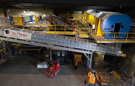 ALFYMA Recycling | Extension d'un centre de tri
